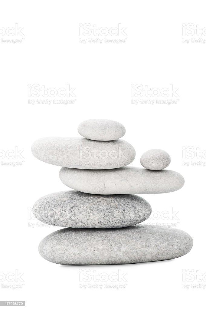 Pile of sea stones royalty-free stock photo