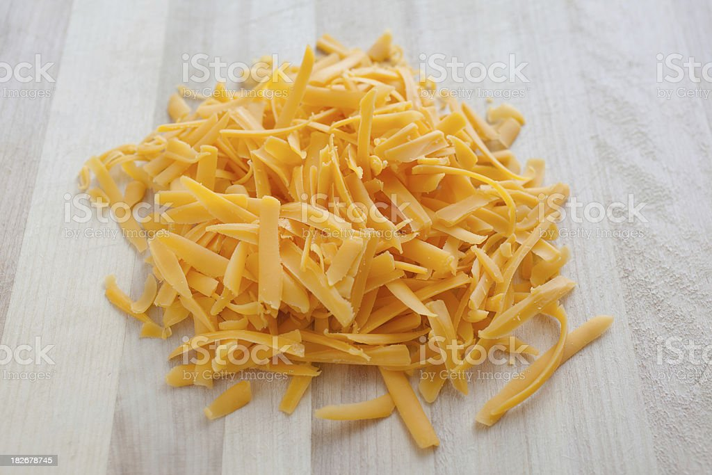 Pile of Shredded Cheese stock photo