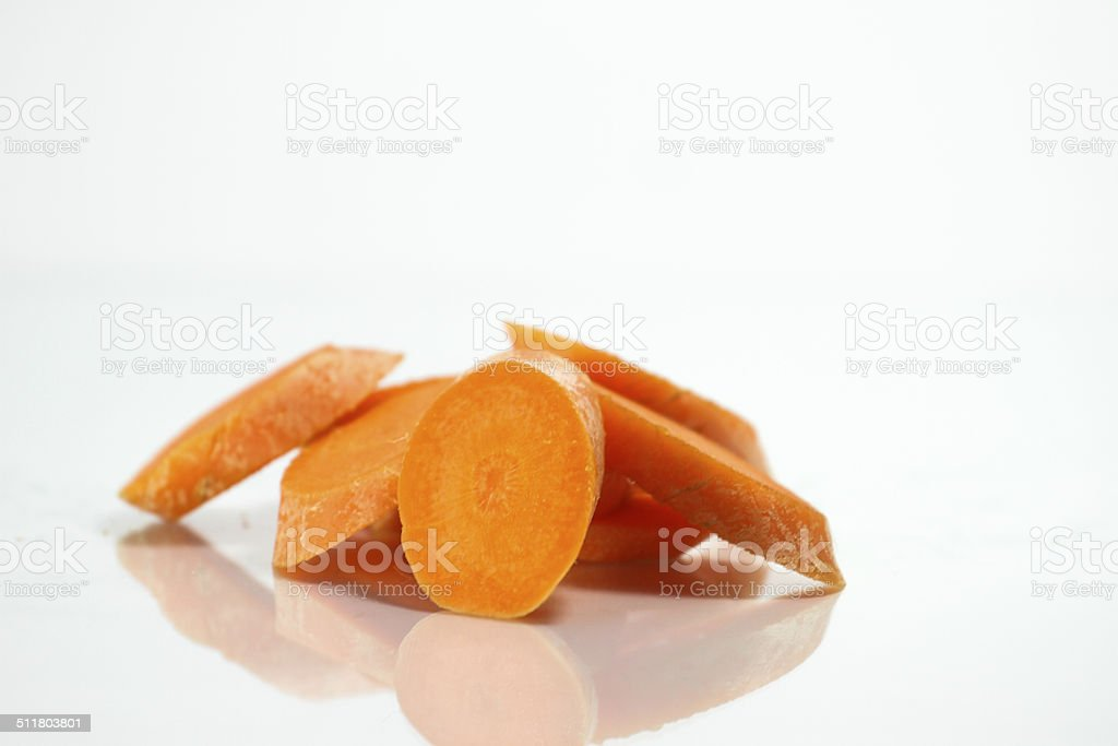 Pile of sliced Carrot stock photo