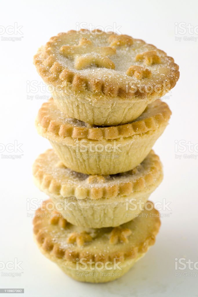 Pile of small christmas or fruit pies royalty-free stock photo
