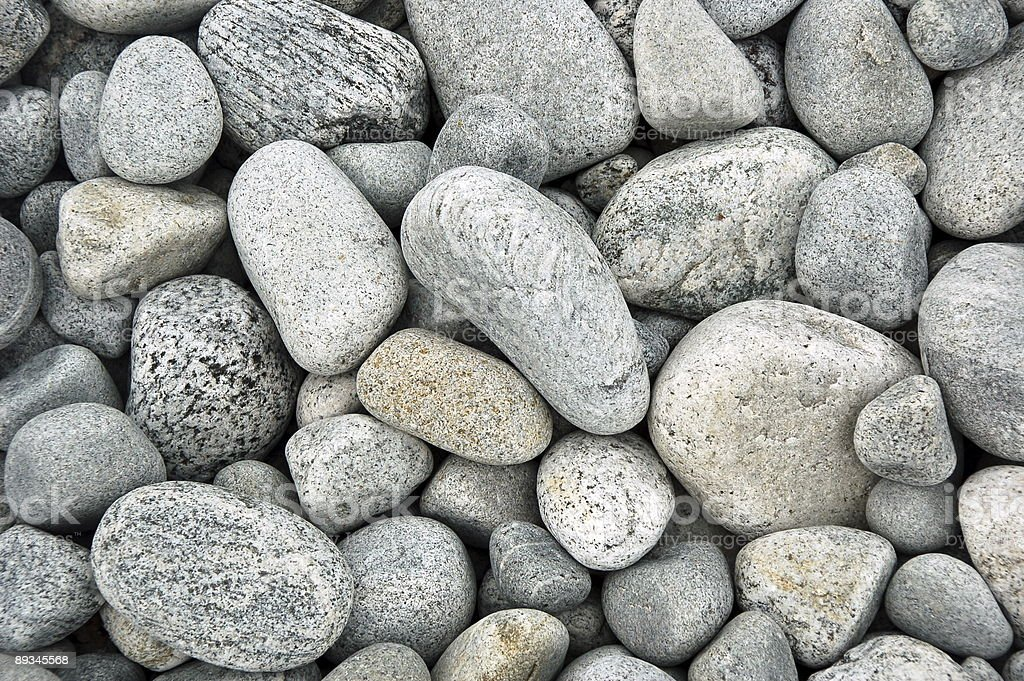 Pile of smoothed stones royalty-free stock photo