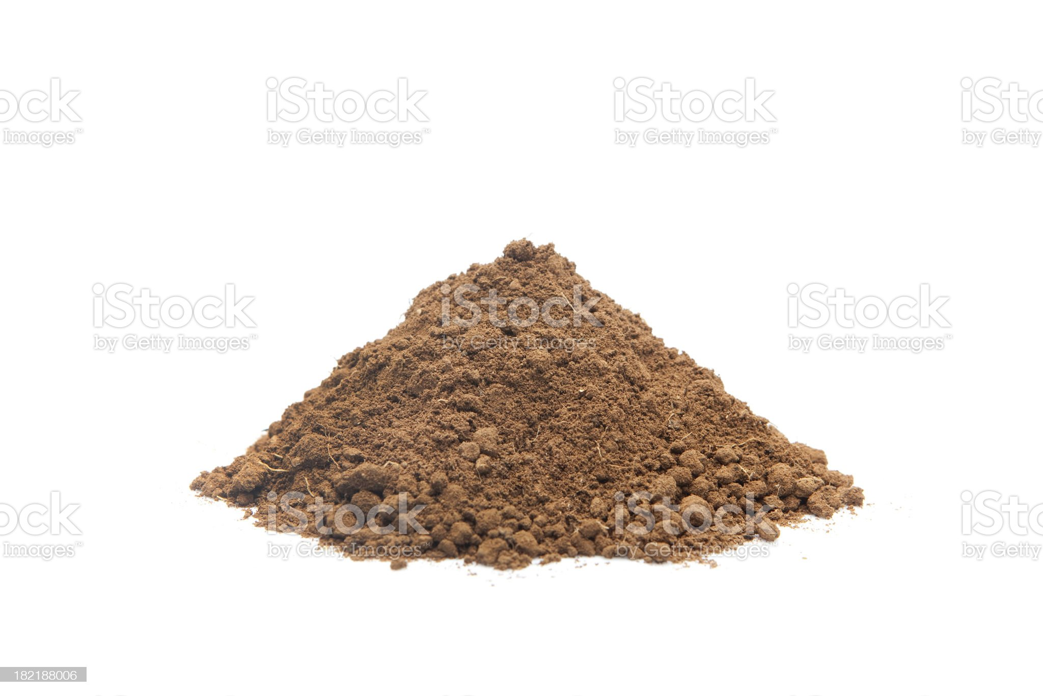 Pile of soil royalty-free stock photo