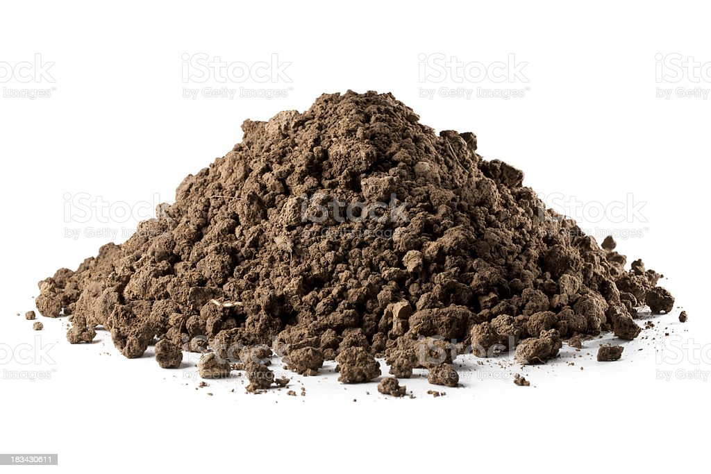 Pile of soil royalty-free stock photo