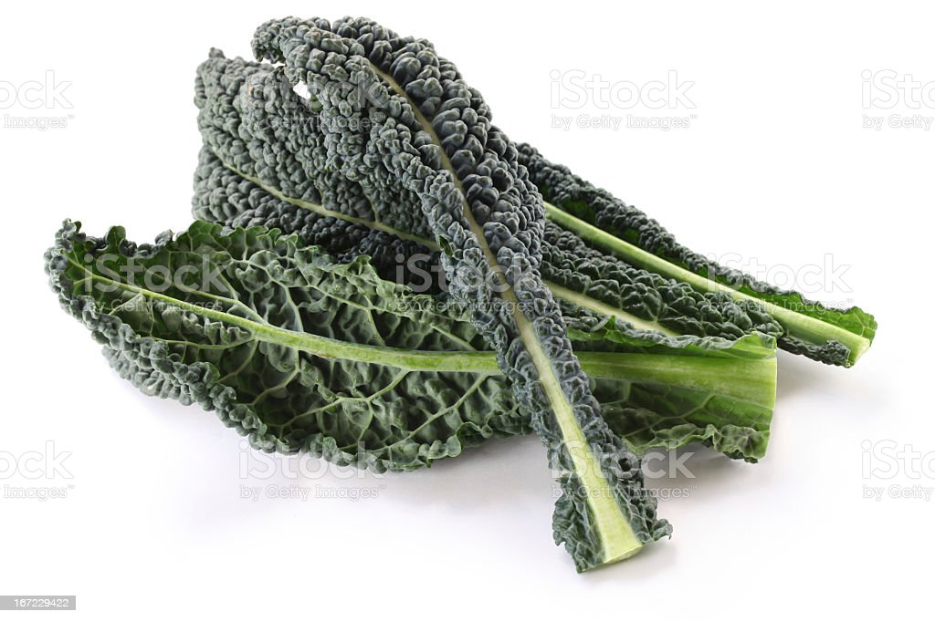 A pile of some fresh produce, black kale  stock photo
