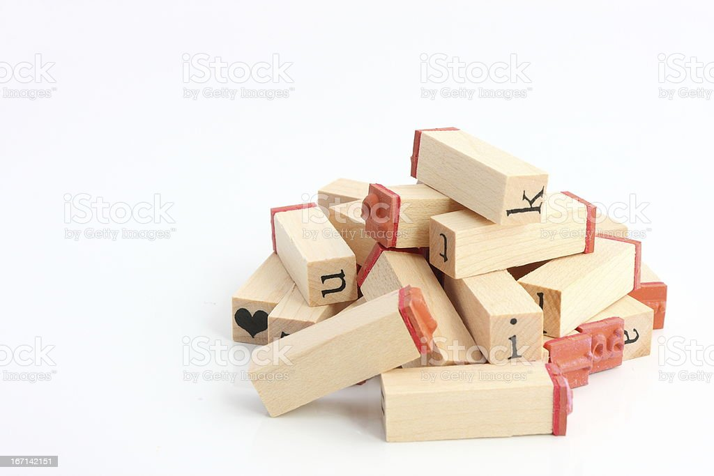 Pile of stamps royalty-free stock photo