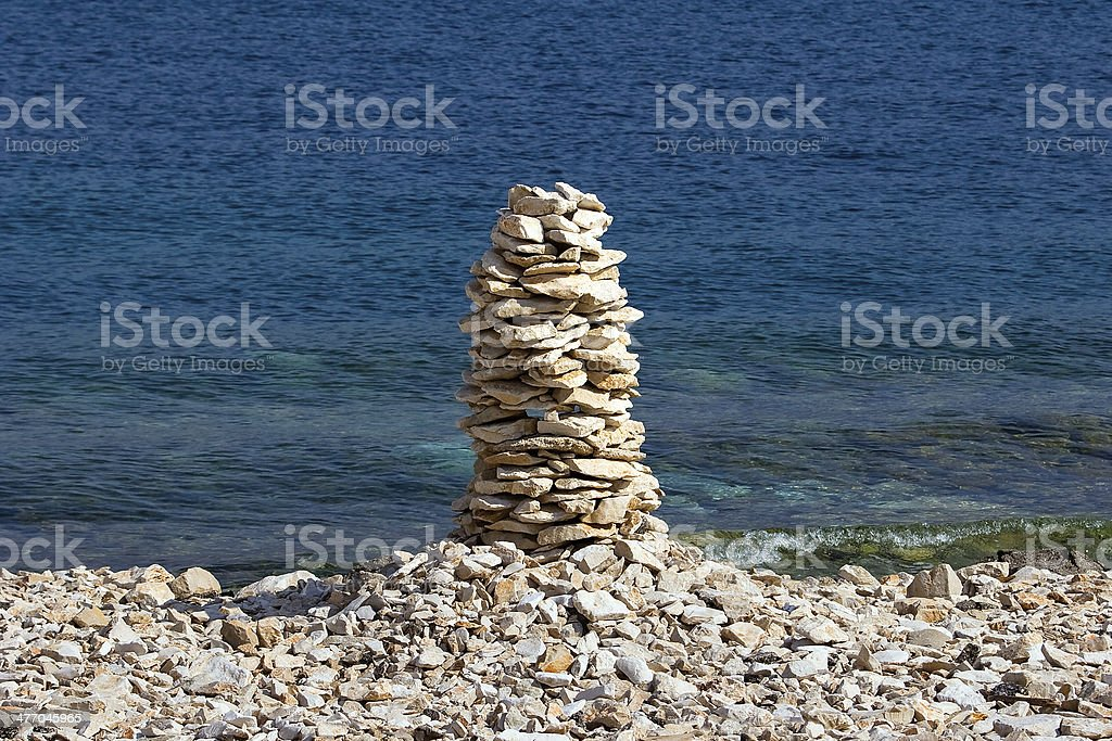Pile of stones in balance royalty-free stock photo