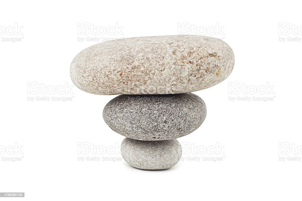 pile of stones isolated on white background royalty-free stock photo