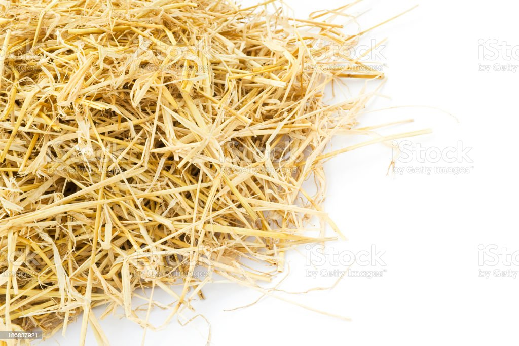 Pile of straw royalty-free stock photo
