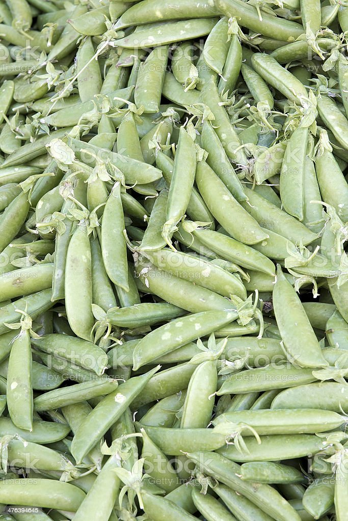 Pile of Sugar Peas Background stock photo