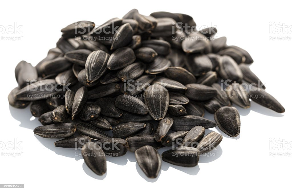 pile of sunflower seeds stock photo