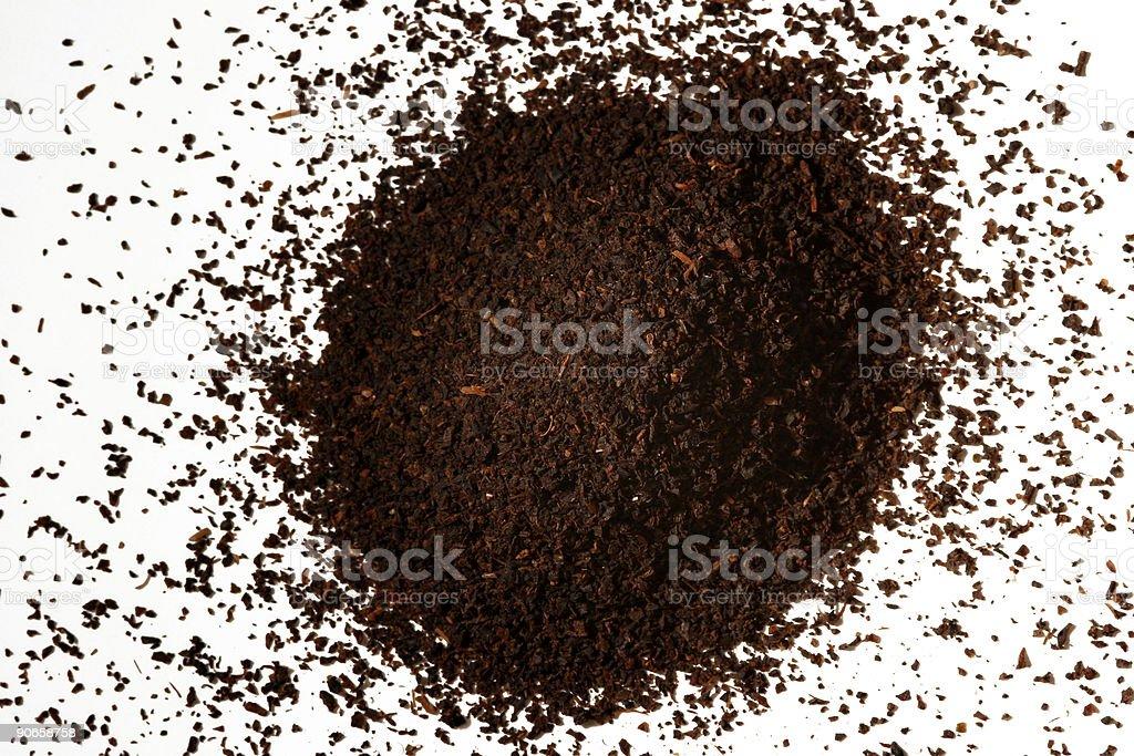 Pile of tea leaves stock photo