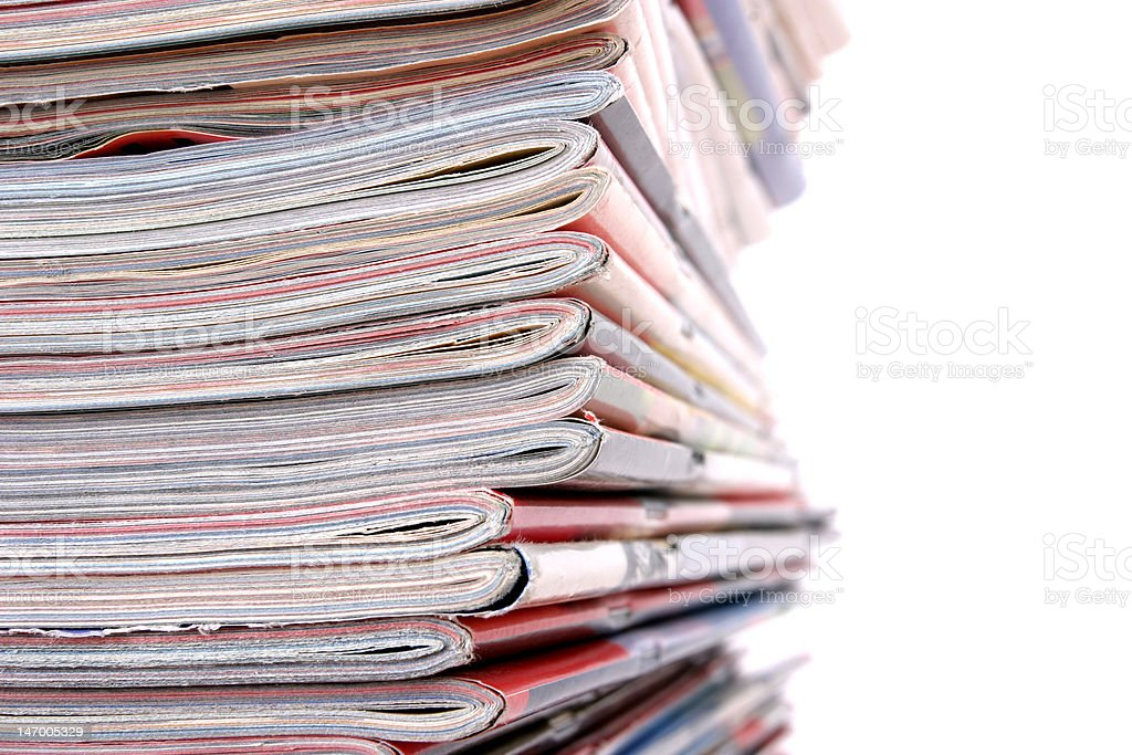 Pile of the newspapers royalty-free stock photo