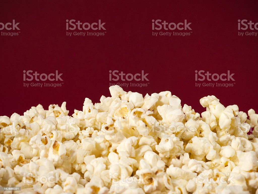 Pile of theater popcorn stock photo