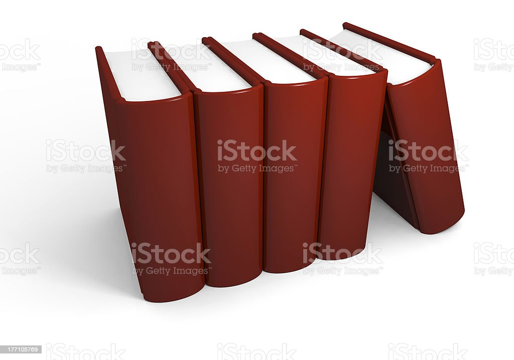 Pile of thick books royalty-free stock photo