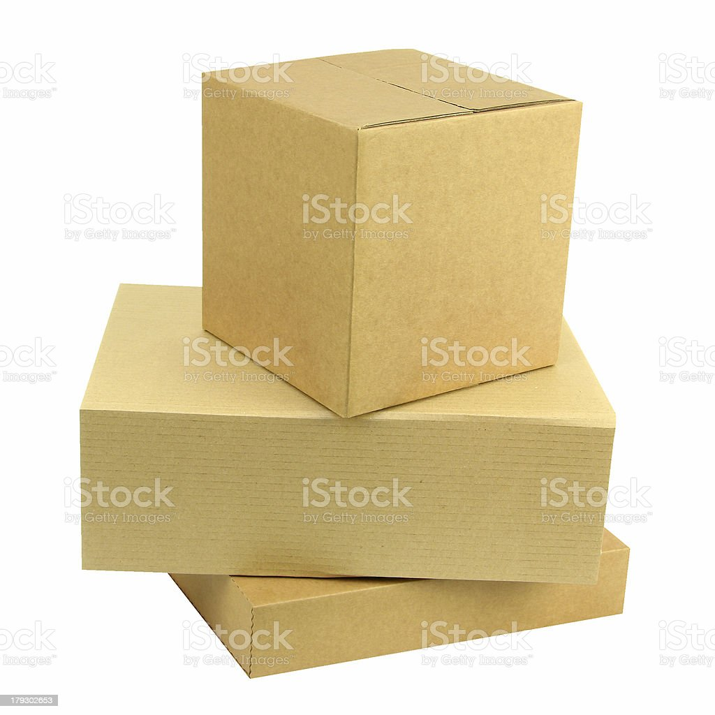 Pile of three boxes royalty-free stock photo