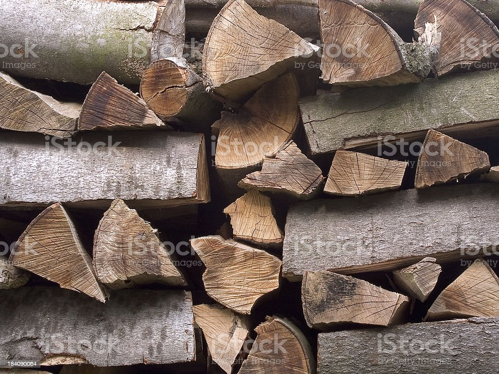 Pile of timber stock photo
