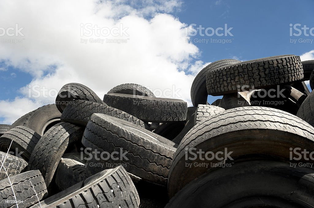 Pile of tires royalty-free stock photo