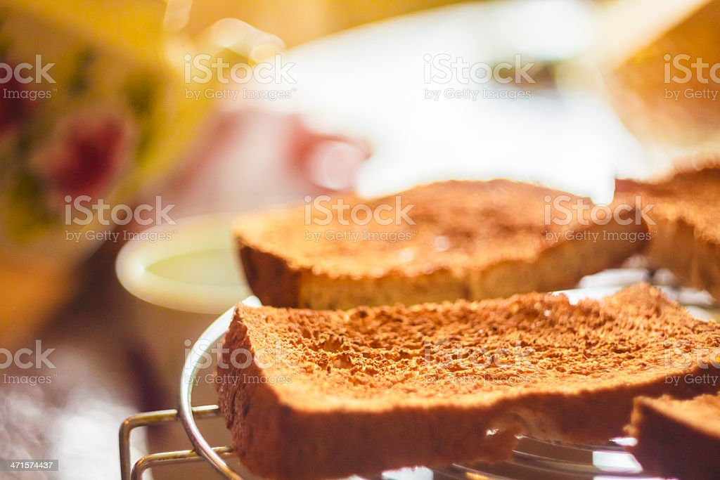 Pile Of Toast For Breakfast royalty-free stock photo