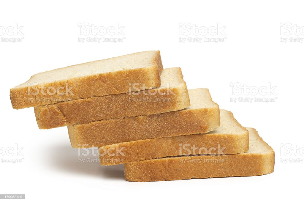 pile of toasted bread slices royalty-free stock photo