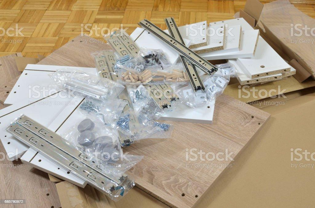 Pile of Unpacked Elements stock photo
