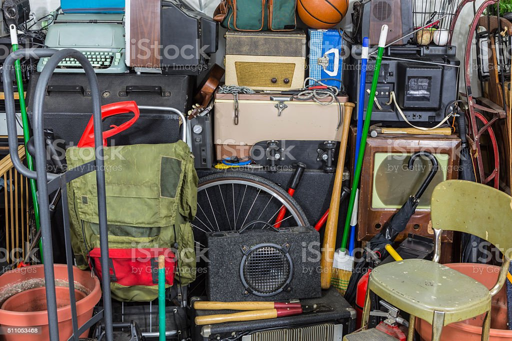 Pile of Vintage Objects stock photo