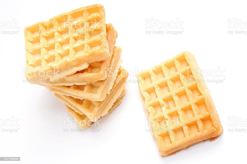 Pile of waffles royalty-free stock photo