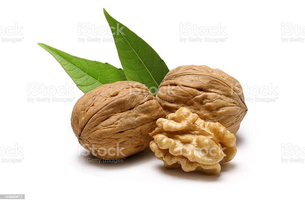 Pile of Walnuts stock photo