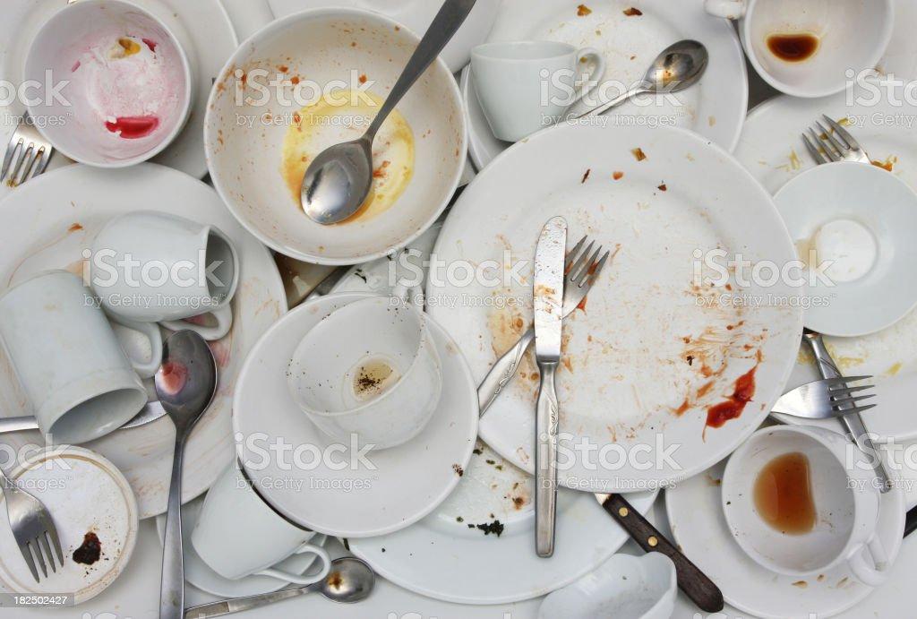 Pile of Washing-up stock photo