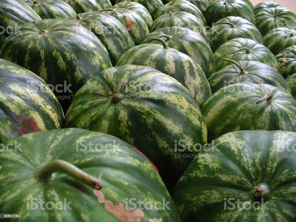 pile of watermelons stock photo