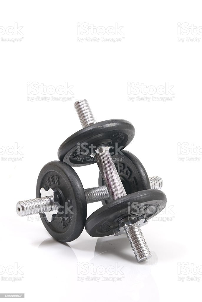 pile of weights royalty-free stock photo