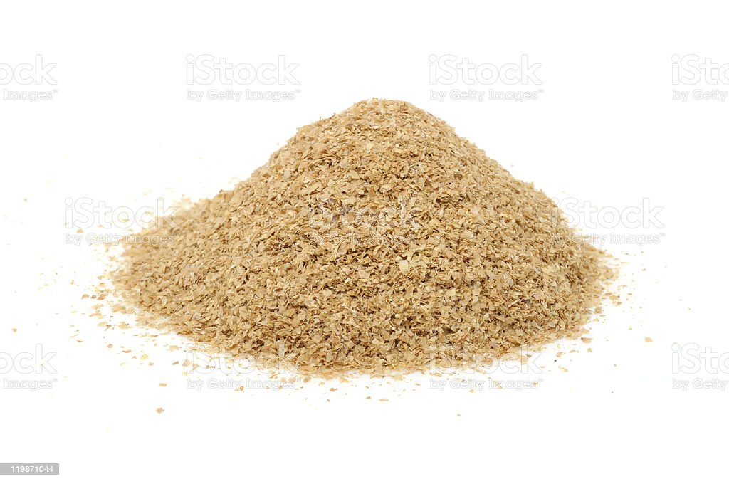 Pile of Wheat Bran stock photo