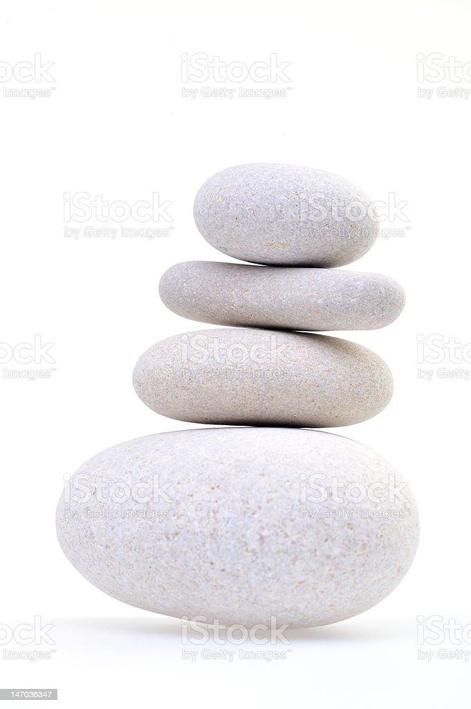 pile of white stones stock photo