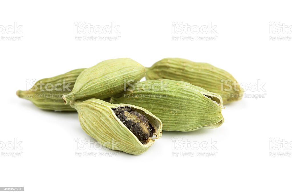 Pile of whole cardamom stock photo