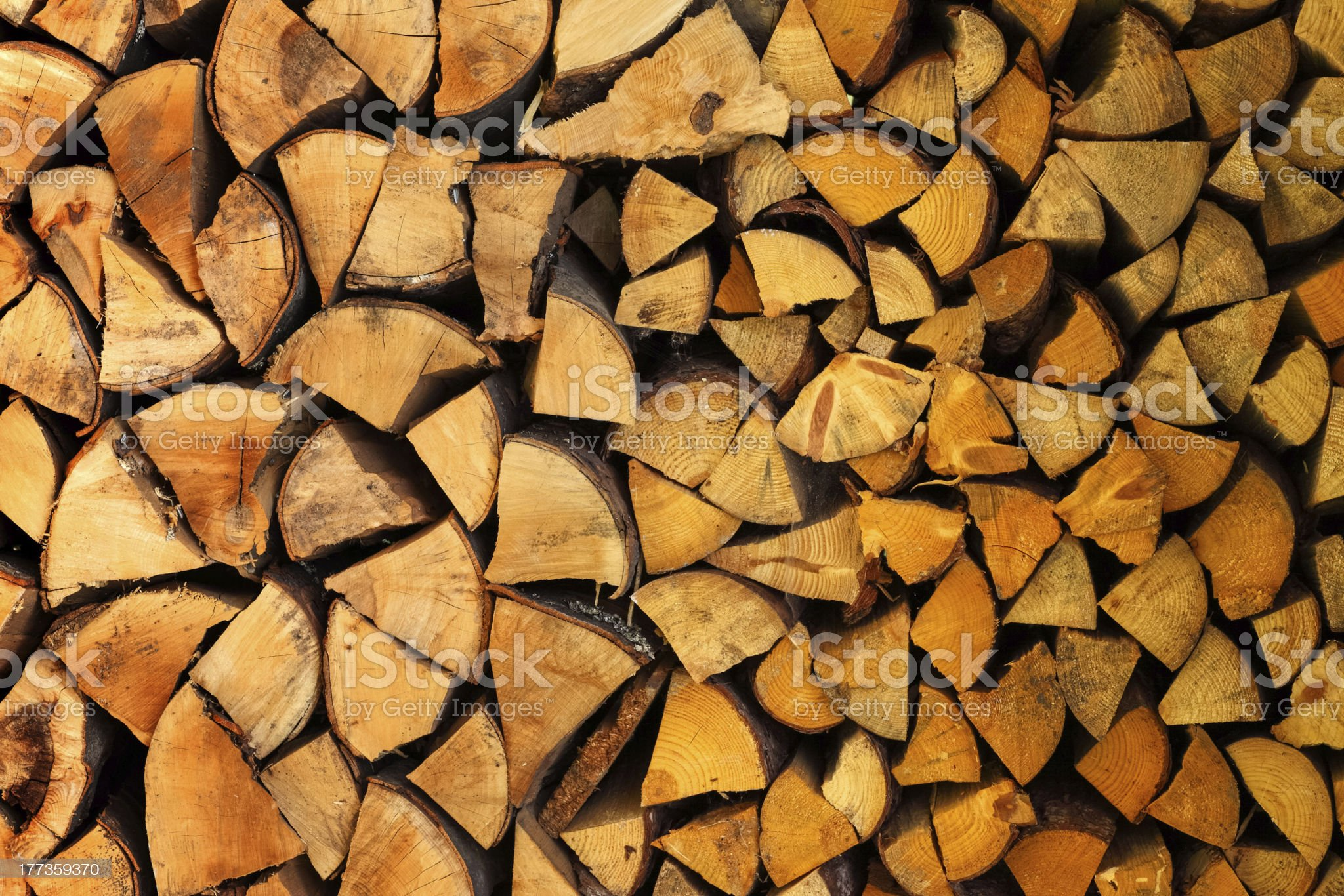 Pile of wood logs ready for winter royalty-free stock photo