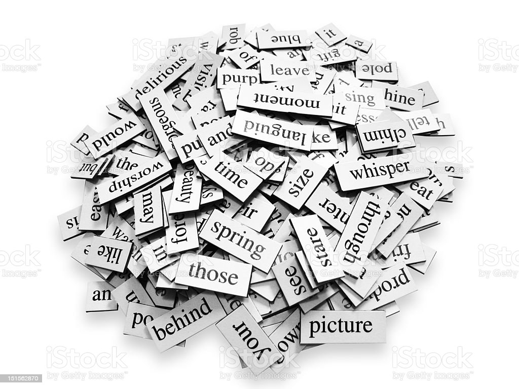 Pile of Words stock photo