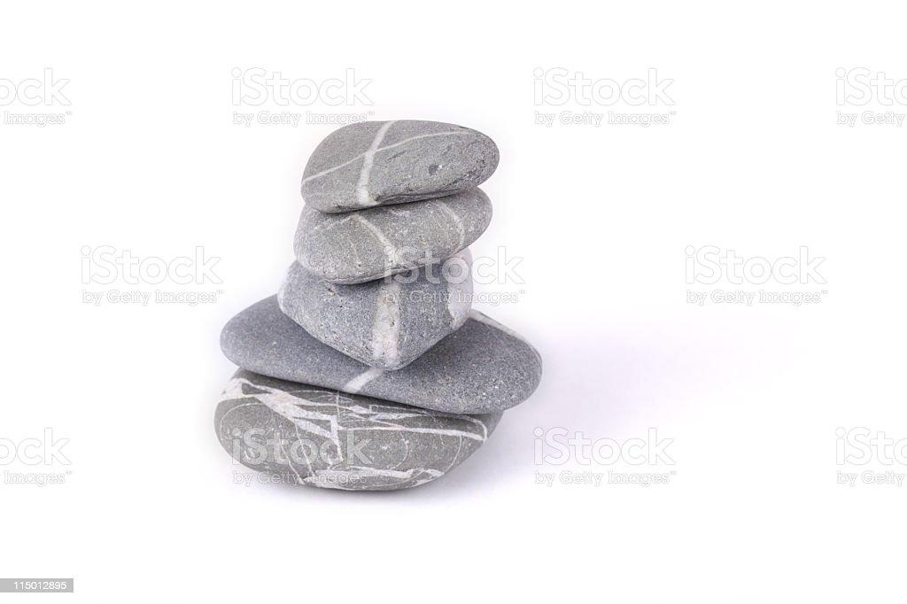 Pile of zen like stones stock photo