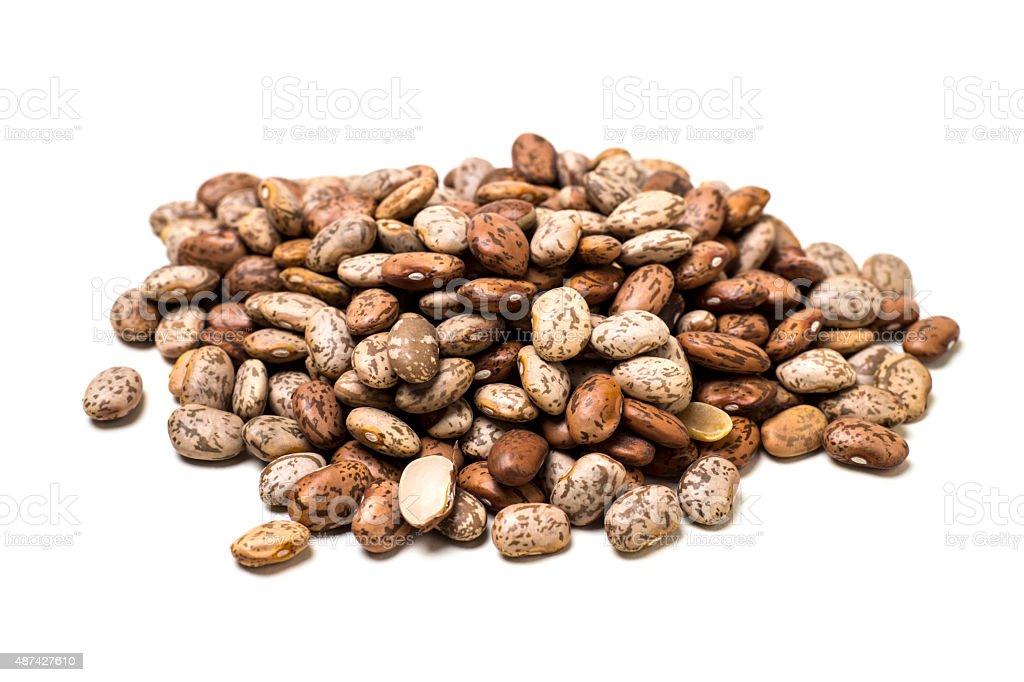 Pile ofPinto Beans Isolated on White stock photo