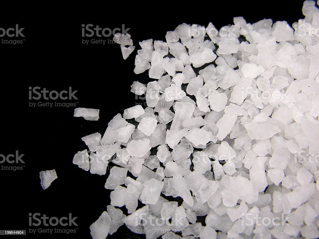 Pile ok sea salt royalty-free stock photo