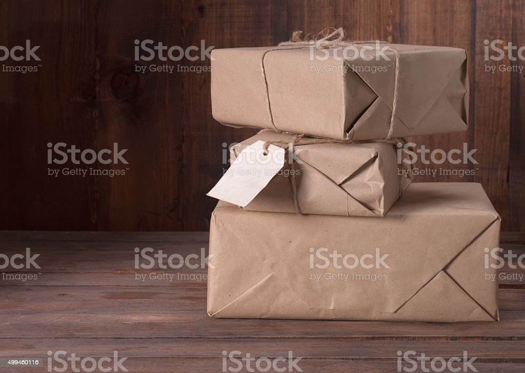 pile parcel stock photo
