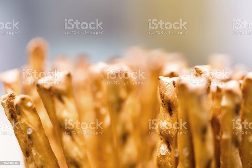 pile sticks of salted macro stock photo