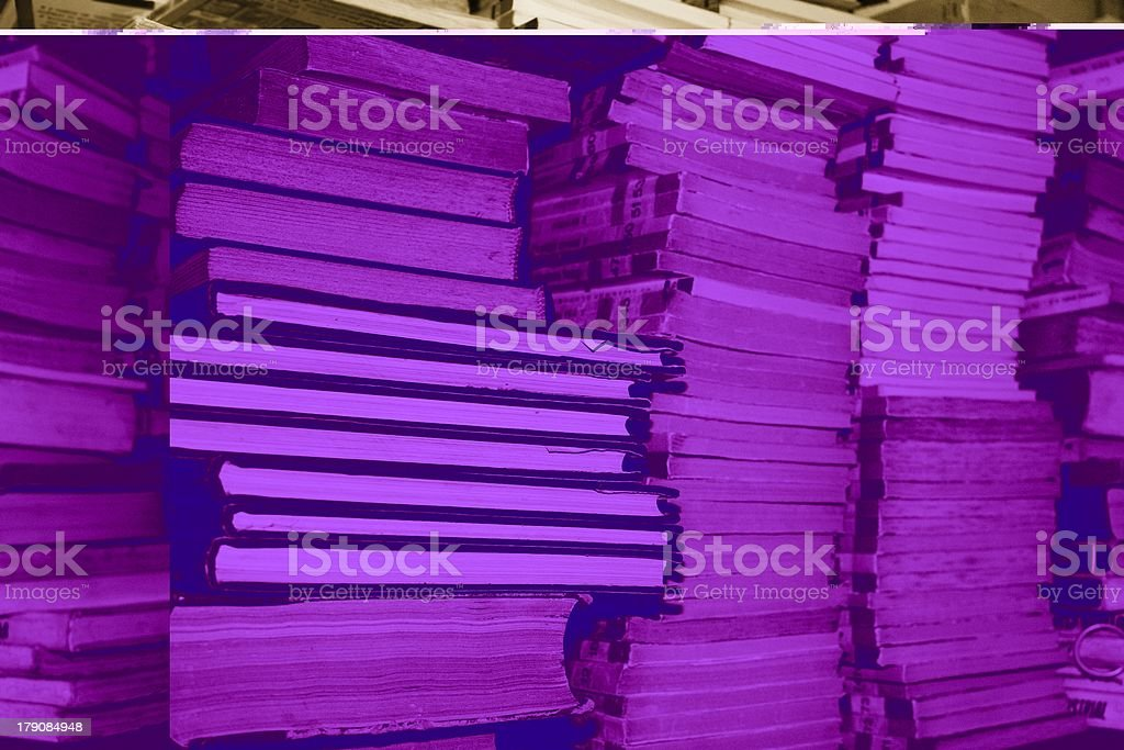 Piled books stock photo