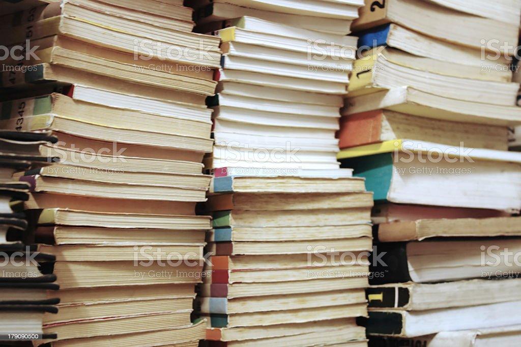 Piled books royalty-free stock photo