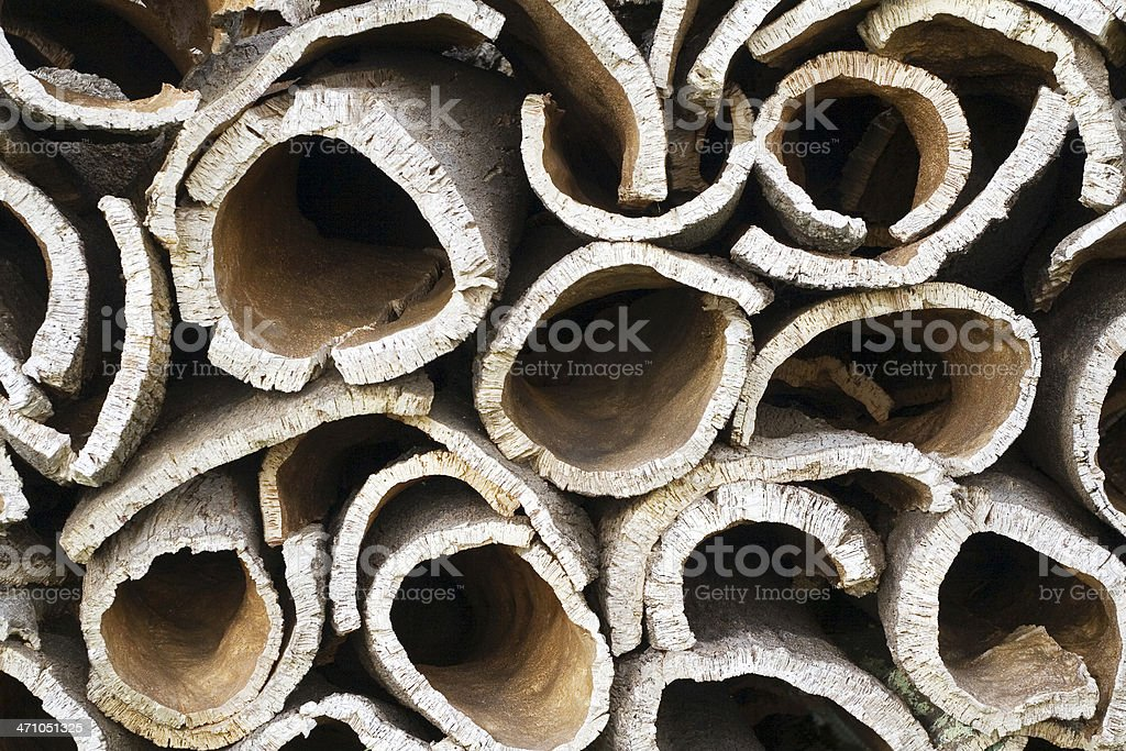 piled cork stock photo