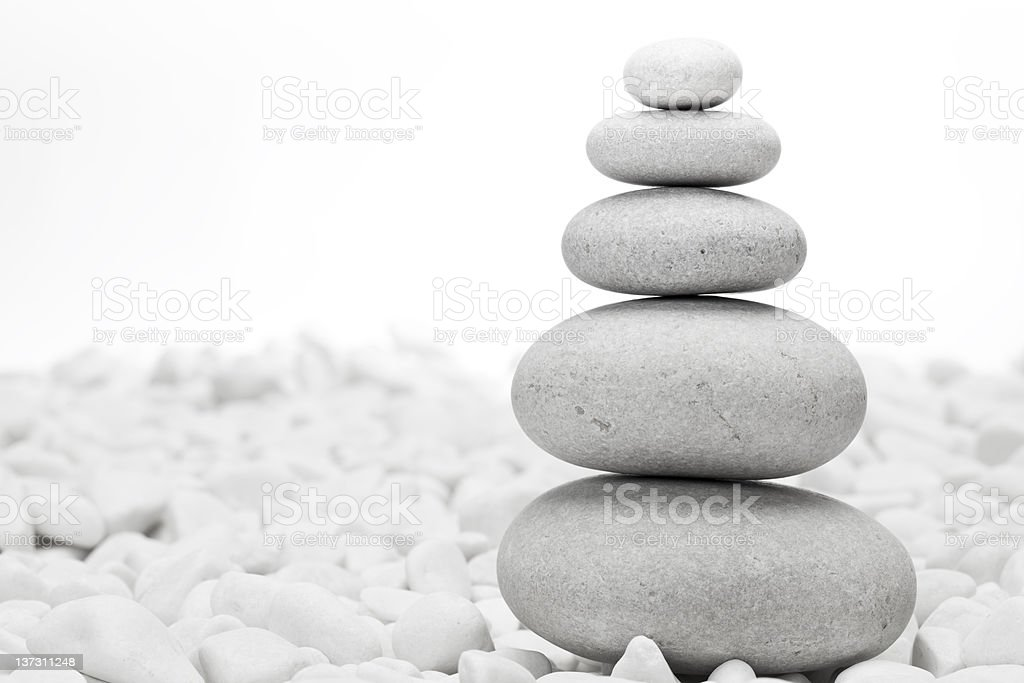 Piled pebble stones royalty-free stock photo