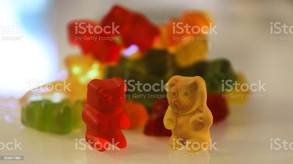 GUMMY BEARS piled stock photo