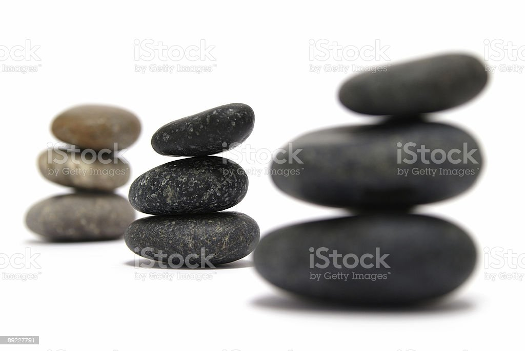 piled round granite stones royalty-free stock photo