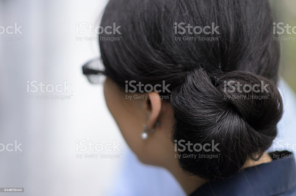 piled up hair stock photo