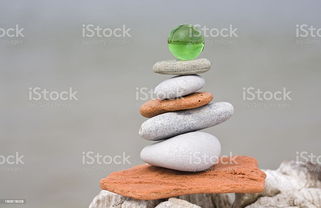 piled wobbly stock photo