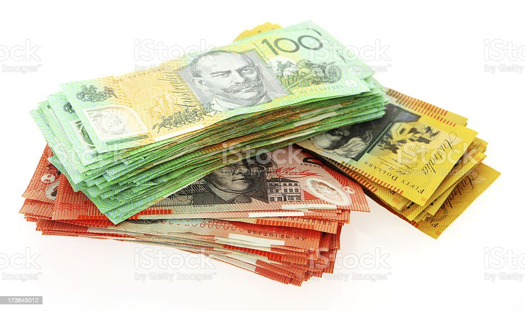 Piles of Cash royalty-free stock photo