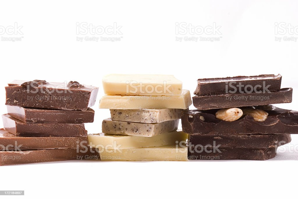 piles of chocolate royalty-free stock photo